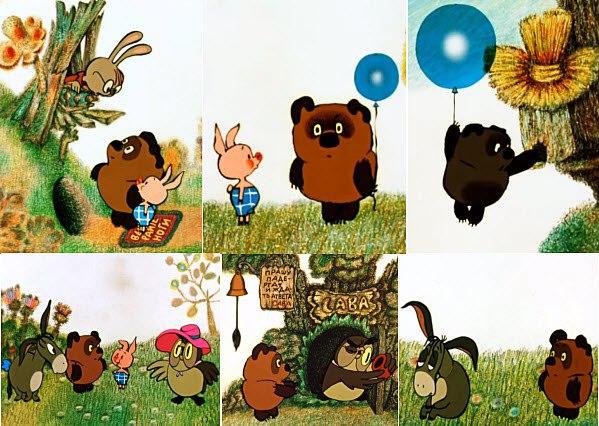 Винни пух в картинках для детей советский